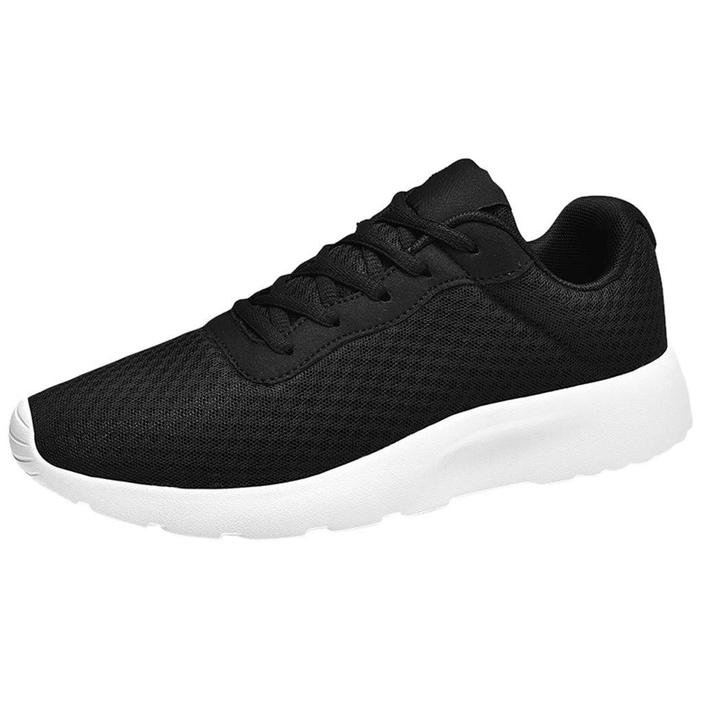 refulgence Men's Sneakers Casual Walking Shoes Gym Breathable Mesh Students Sports Shoes (Gray,US:7) by refulgence