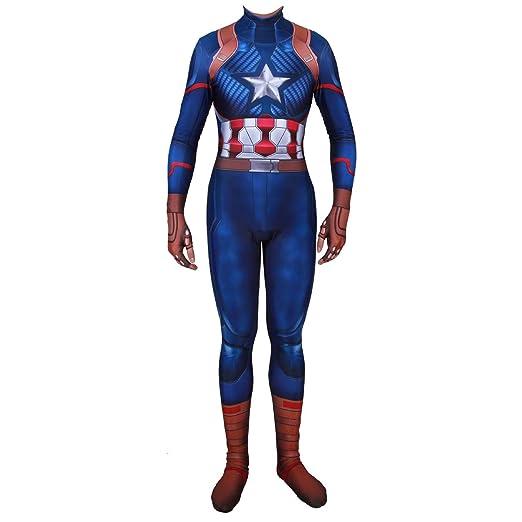 QQWE Capitán América Cosplay Marvel Hero, los niños, Adultos ...