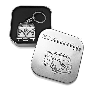 VW Collection by BRISA VW T1 Bus Llavero, Chip de Carrito, en Caja de Regalo - Plata Antigua: Amazon.es: Coche y moto