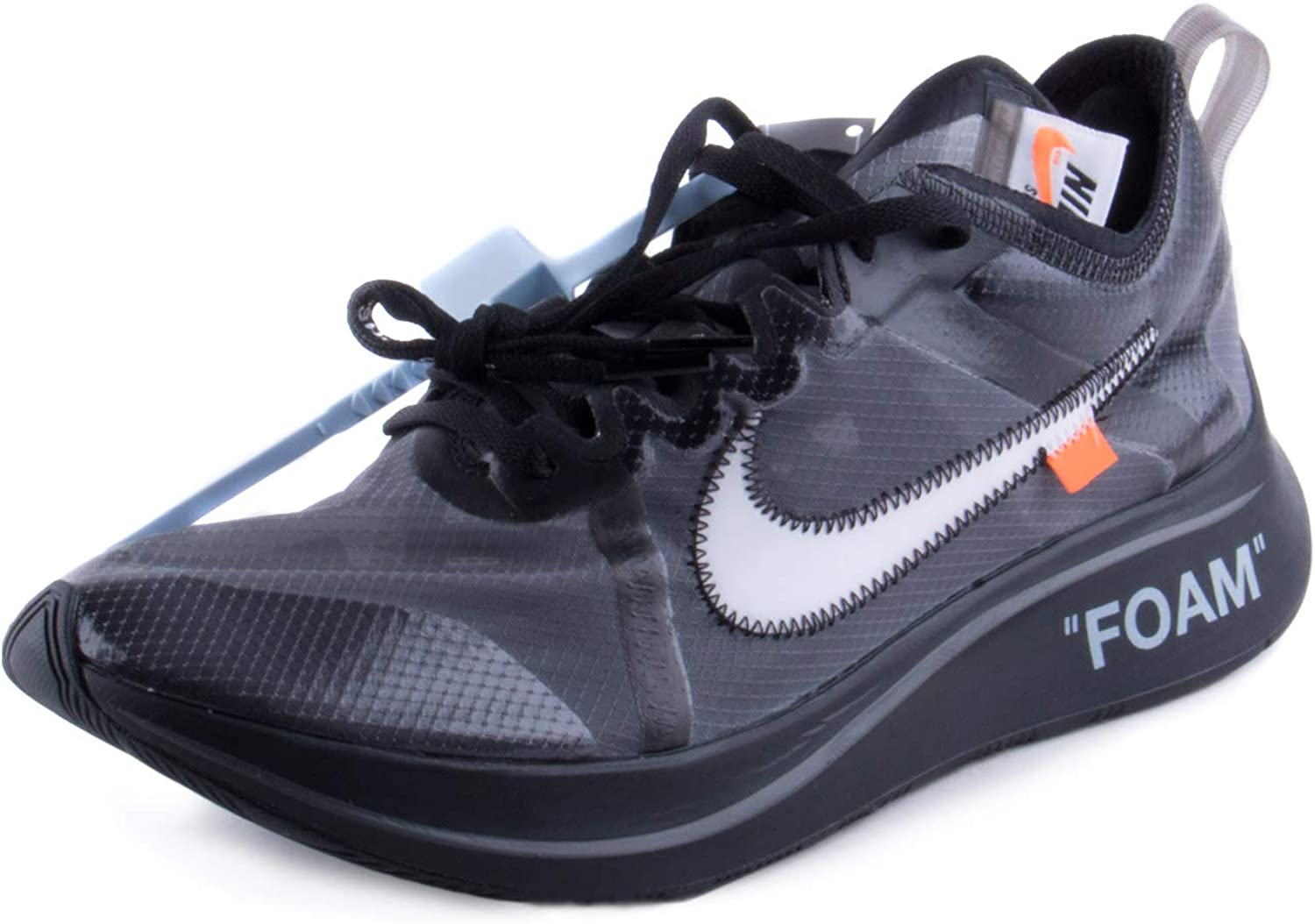 Nike Zoom Fly x Off White - Black/White-Cone-Black Trainer Size 7 UK: Amazon.es: Zapatos y complementos