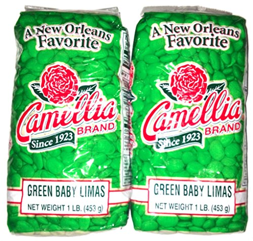 Camellia Brand Green Baby Lima Beans - Dry Bean, 1 Pound Bag (Large Beans Lima)