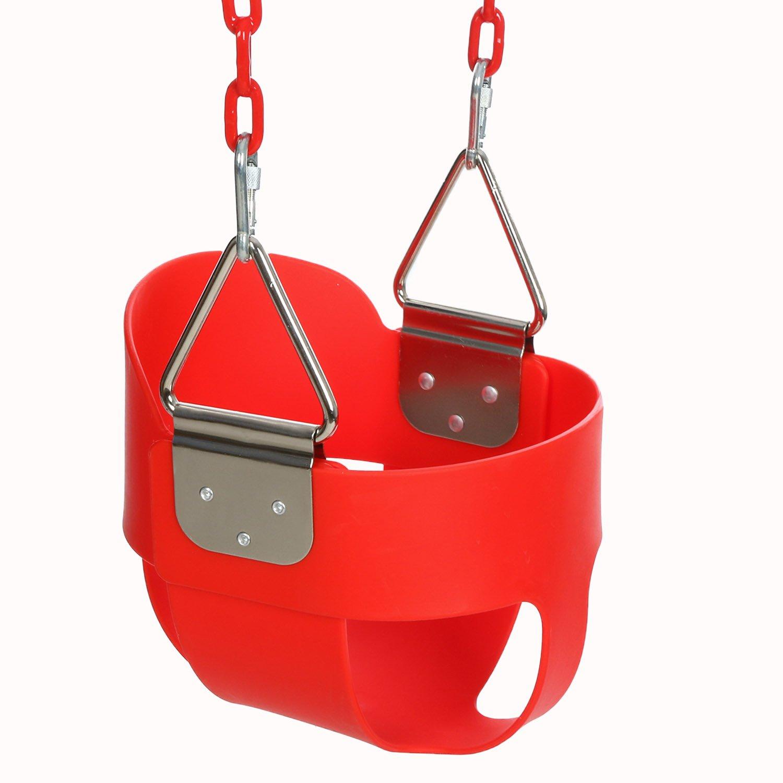 人気が高い funmilyハイバックフルバケット幼児用スイングシート60インチプラスチックコーティングスイングチェーン& 2スナップフック完全に組み立てられ – スイングセット レッド イエロー US01+PYAA004617### イエロー レッド B07B1Q72CL レッド レッド, KMサービス:eddb70f4 --- munstersquash.com