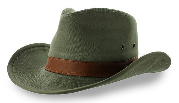 cf44da1d6ce Dorfman Pacific Men s Twill Outback Hat  Amazon.co.uk  Clothing