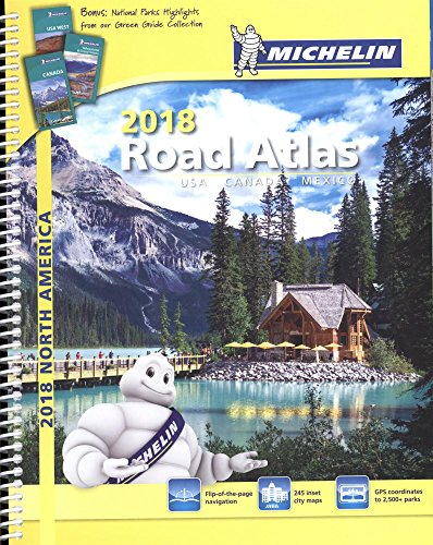 Michelin North America Road Atlas 2018