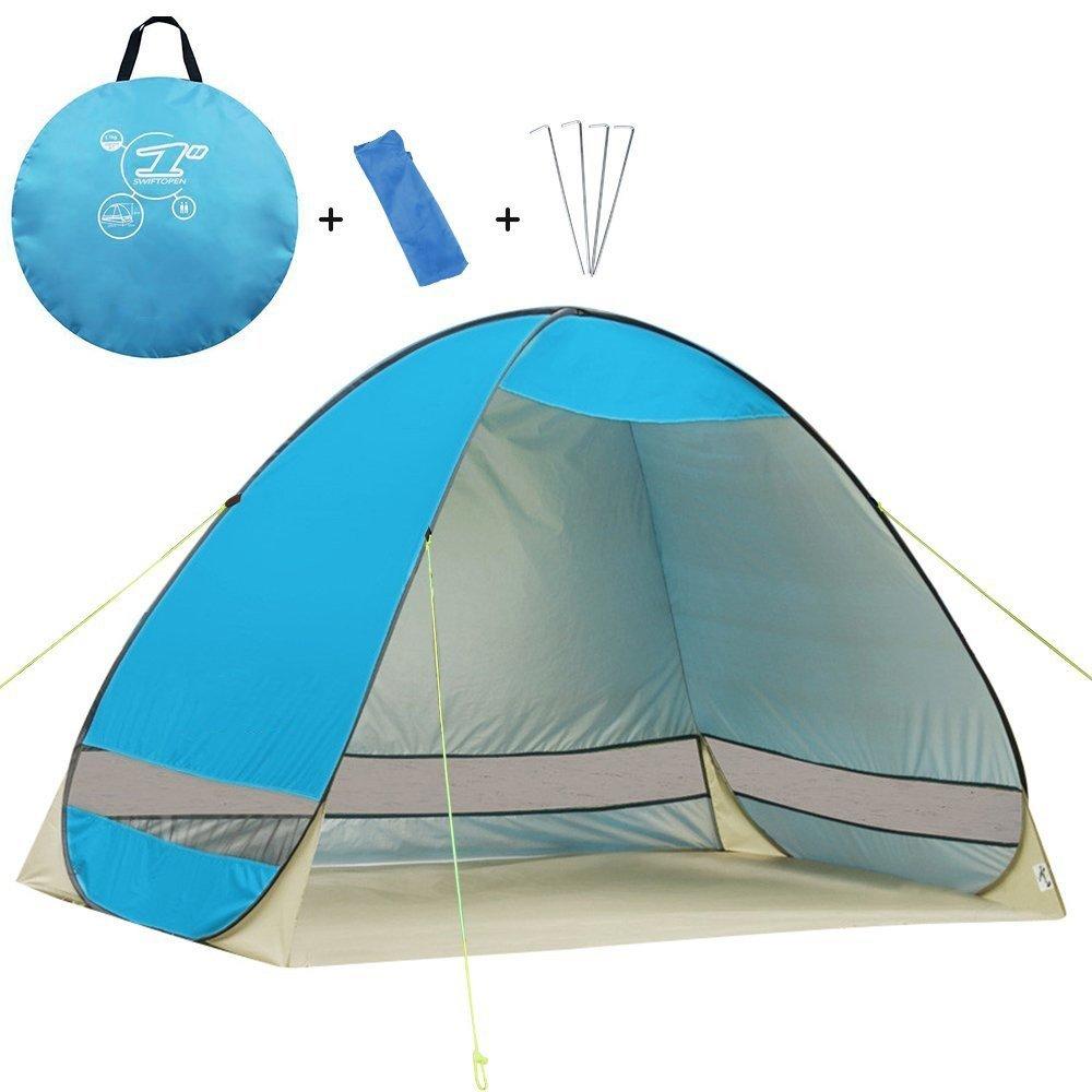 YOPEEN Strand Zelte Outdoor-Camping-Schutz UV-Schutz Automatische Öffnung Zelt Schatten Ultraleicht Pop-up-Zelt für Outdoor-Party Angeln