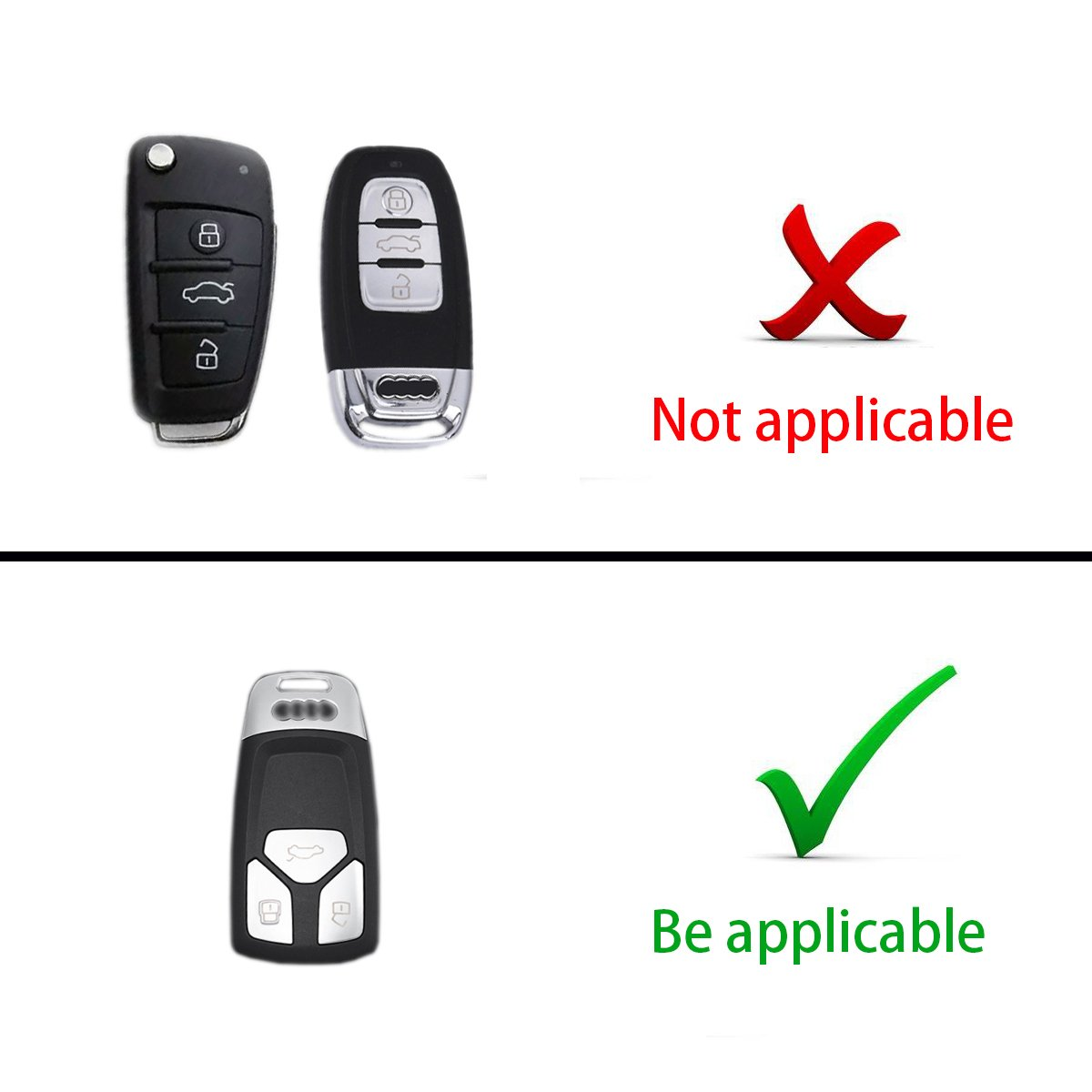 MODIPIM Keyless Entry Remote Cover Soft TPU Key Fob Case With Diamond Tassel Keychain For AUDI A4L TT A5 Q7 2016 2017 3 Buttons Smart Key Color Gold