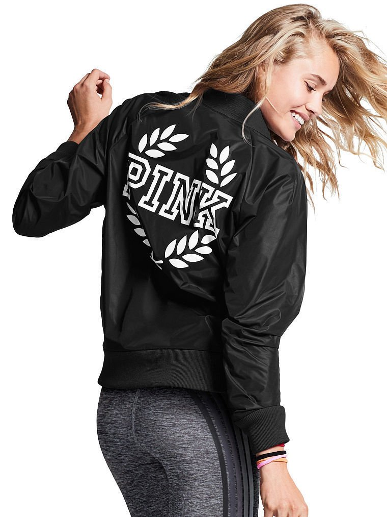 Victoria's Secret PINK Bomber Jacket Black (Medium) by Victoria's Secret