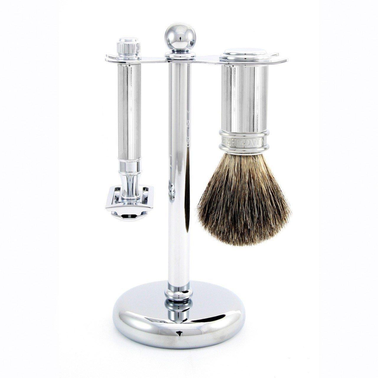 Edwin Jagger 3 Piece DE 89L Shaving Set - Chrome by Edwin Jagger