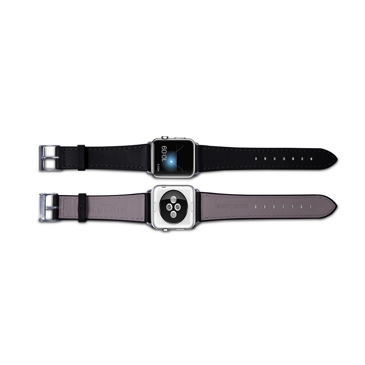 Lucrin - Apple Watch band 38 mm – Elegance - Black - Smooth Leather by Lucrin (Image #4)