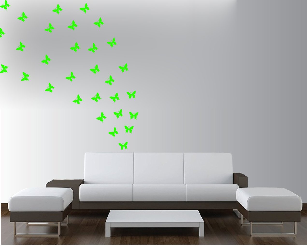 buy wow interior glowing in dark 50 butterfly small size wall buy wow interior glowing in dark 50 butterfly small size wall sticker online at low prices in india amazon in