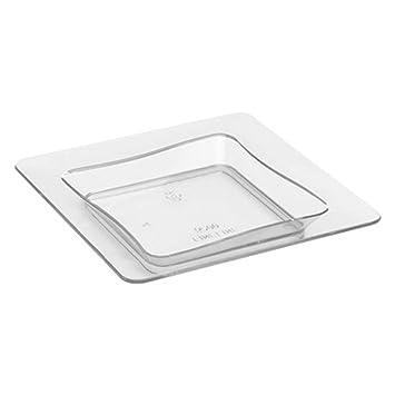 Ajustes Fineline 6200-cl, 3 x 7,62 cm plástico transparente pequeño bandejas
