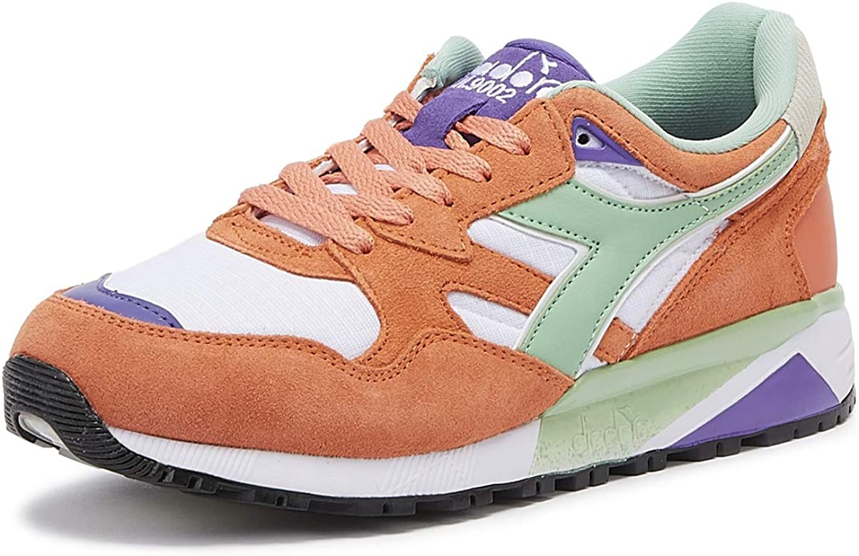Diadora N9002 Hombres Fresh Salmon/Blanco Zapatillas-UK 10 / EU 44.5: Amazon.es: Zapatos y complementos