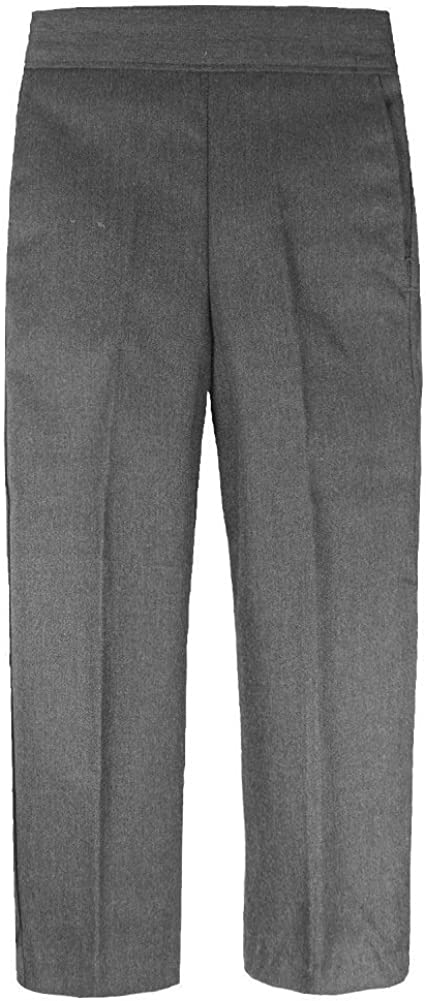 Boys Half Elastic Pull Up School Trouser with Zip and Clip UK Age 8-11 Years