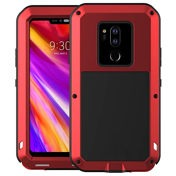 pretty nice e991a 92d6d LG G7 Case, LG G7 ThinQ Case, Armor Hybrid Aluminum Alloy Cover Heavy Duty  Gorilla Glass Rubber Waterproof Shockproof 360 Protective Military Outdoor  ...
