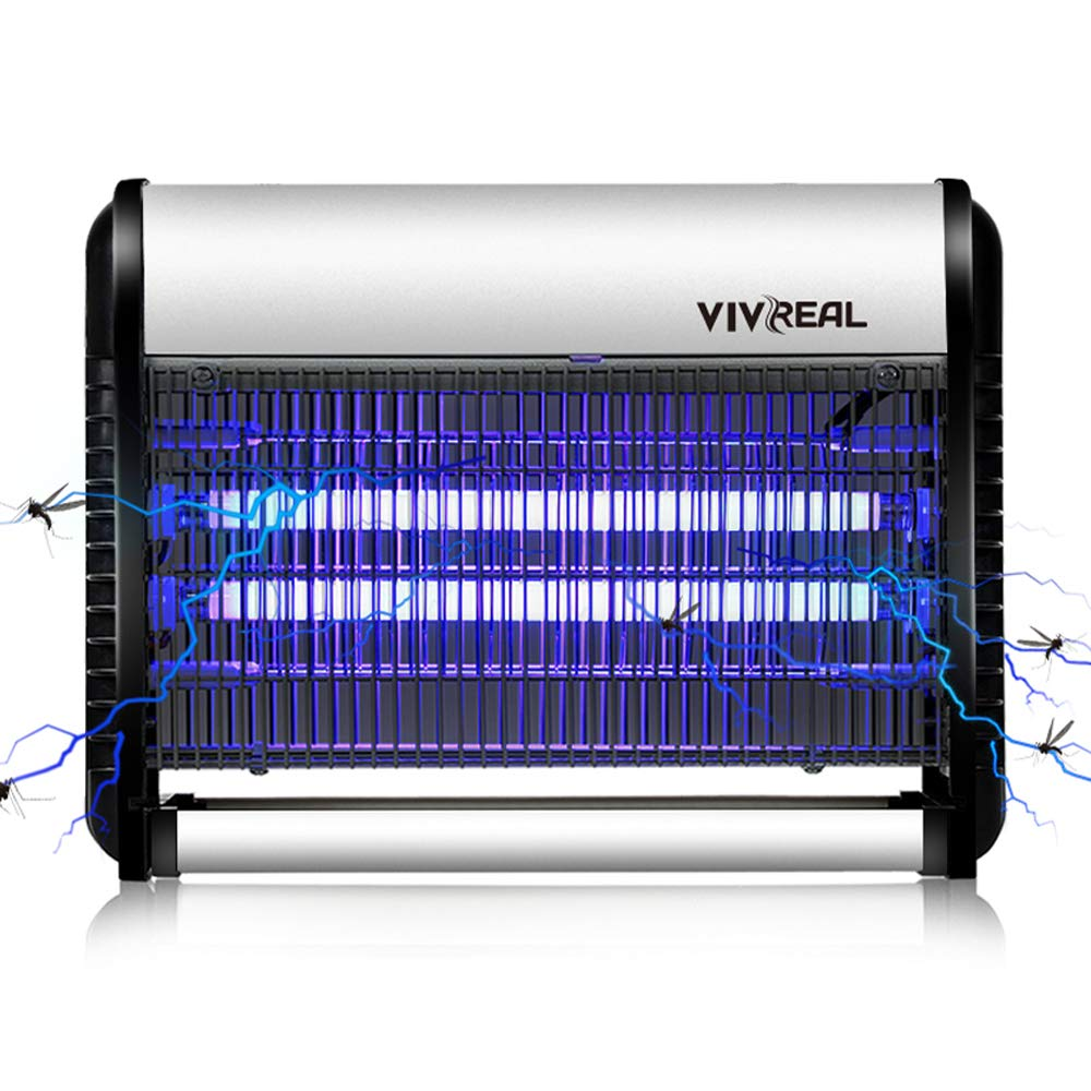 VIVREAL Indoor Bug Zapper, Fly Trap Indoor, Mosquito Trap, 538 SQ.FT Large Coverage, Child-Safe, Non-Toxic, UV Light Insect Killer, Ideal for Home Commercial Industrial Use, 19 Watts