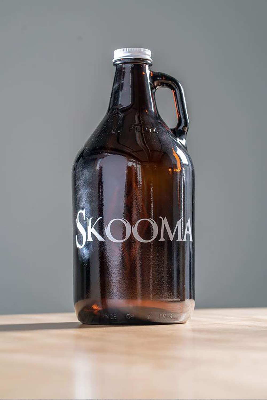 Official Skyrim Skooma 64oz Glass Growler With Logos