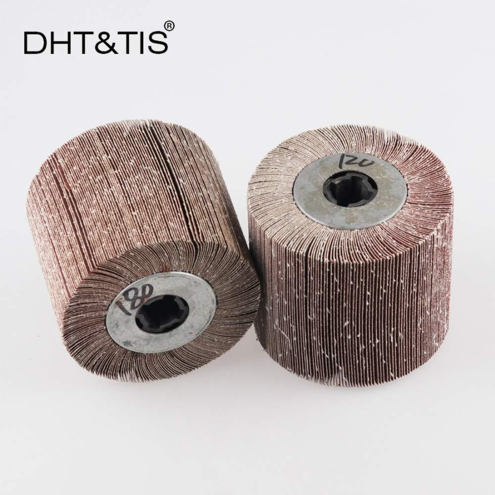 Maslin DHT&TIS 12010019mm Emery Cloth Mop wheel Striping Wheel P40 - P600 for Metal Polishing (choose the grit) - (Grit: 600grit)