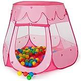 TecTake Tenda per bambini Tenda giocattolo + 100 palline colorate ROSA