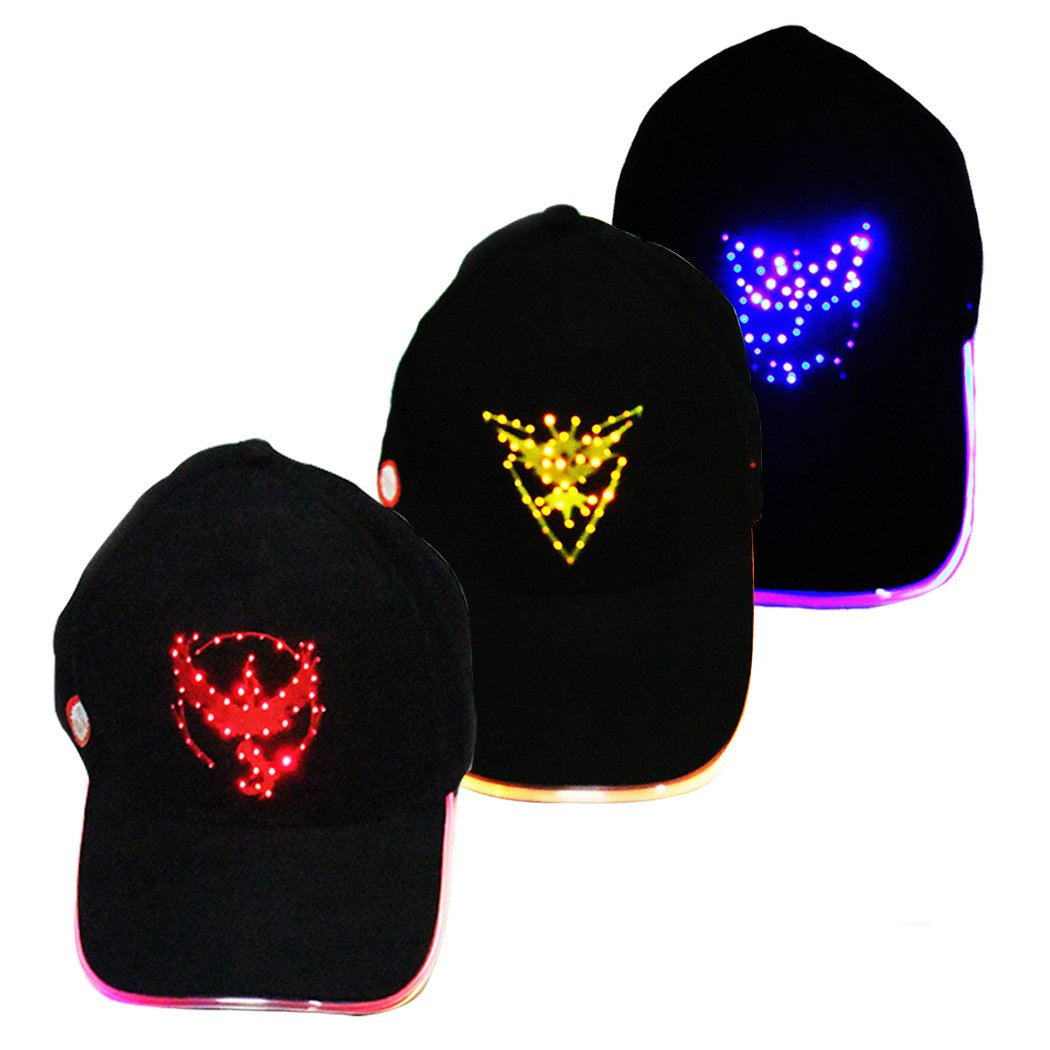 CatchyMarket LED Light Up Hat For Indoor and Outdoor Red