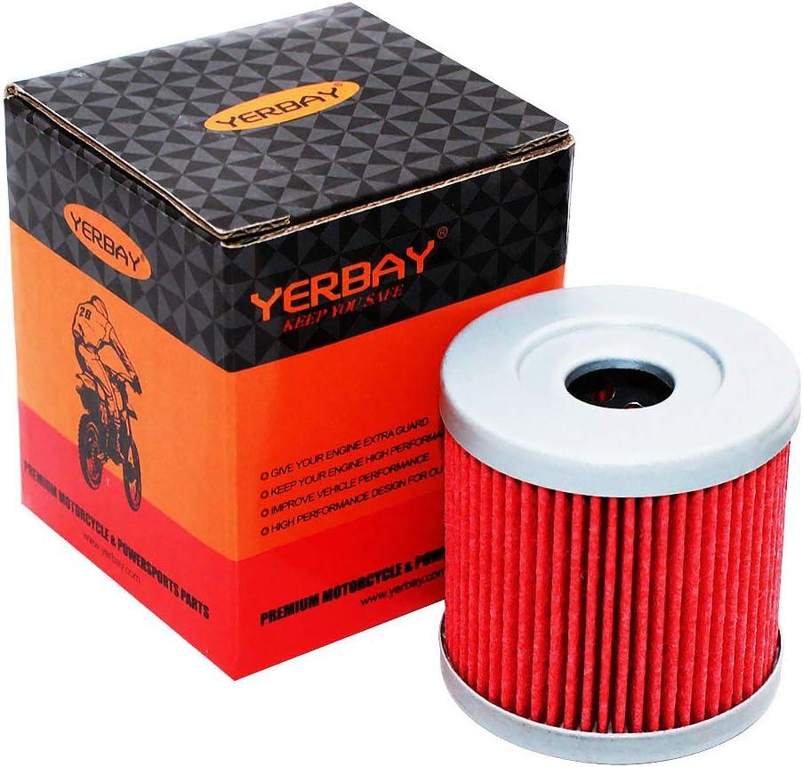 Yerbay Motorcycle Oil Filter for Kawasaki KFX400 2003-2006 / KLX 400 SR KLX400SR KLX400R 2003