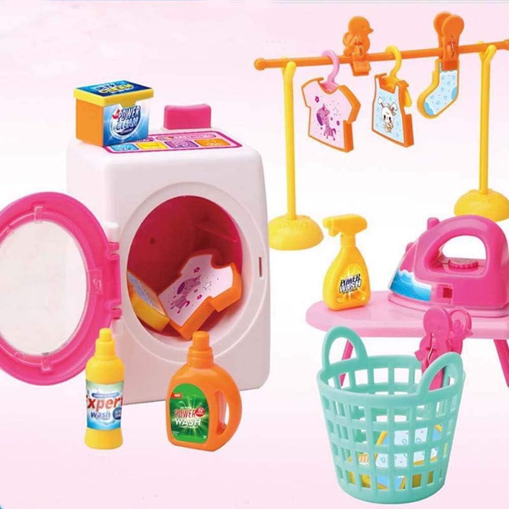 URMAGIC TIK Tok Popular Mini Appliance Toy Simulation Dollhouse Furniture Kitchen Toys Kids Children Play House Toy Washing Machine Set Pretend Game Toy