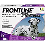 Merial Frontline Plus Flea and Tick Control for  45 to 88-Pound Dogs, 6 Applicators thumbnail