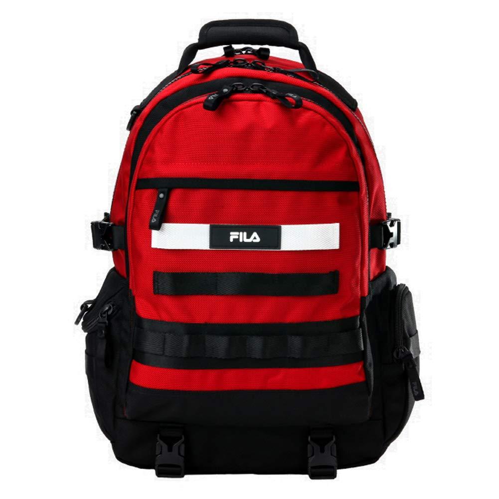 [フィラ] FILA FORCE BACKPACK Dark Red FS3BPA5001X フォース バックパック ダークレッド 大容量 リュックサック [並行輸入品]   B07MG8LY57