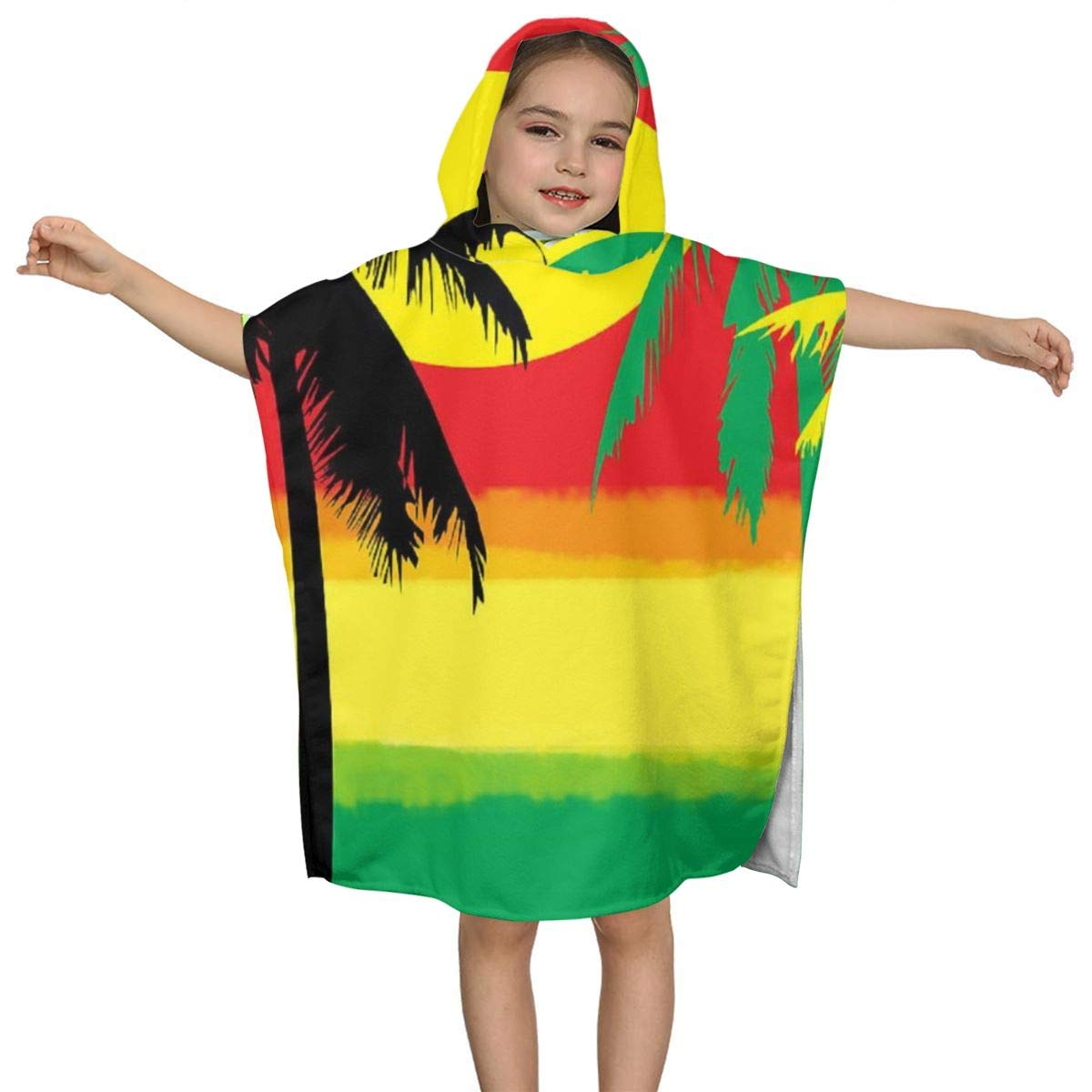 Grill Tree Island Sunset Kids Hooded Beach Bath Towel Pool Baby Toddler Bath Pool Swim Poncho Super Soft & Absorbent 23.6 X 47.2 Inches by MAYUES