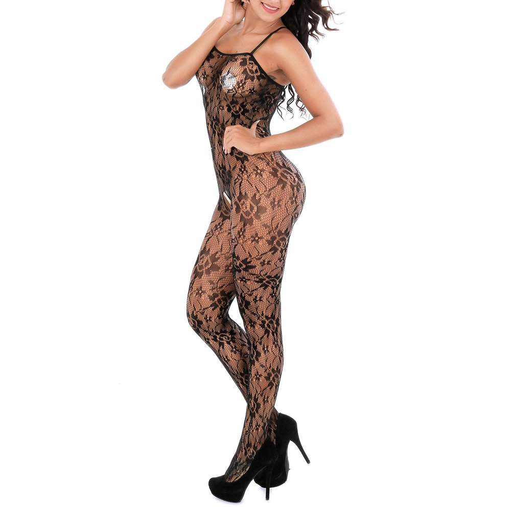 583ea38e852 Amazon.com: Womens Sexy Lingerie for Sex See Through Fishnet Bodystocking  Stocking Teddy Open Crotch Babydoll Bodysuits Sale (Black-A): Clothing