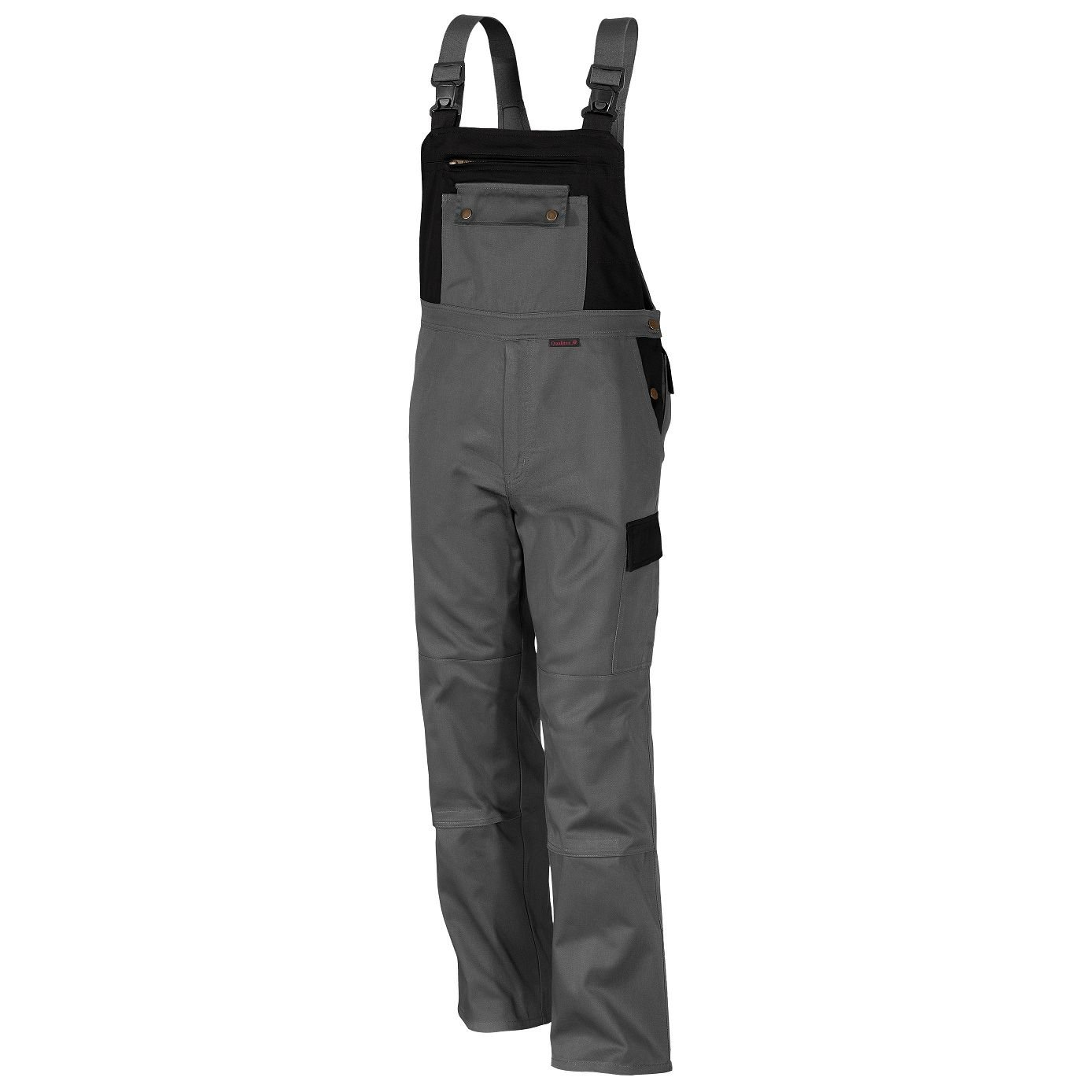 Qualitex 3105/5-8 25 Image Dungarees, Blended Fabric, 65% Cotton, 35% Polyester, Grey-Black