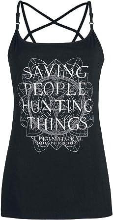 Supernatural Saving People, Hunting Things Mujer Top Negro XL ...