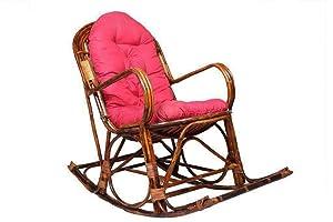 IRA Rattan Modern Rocking Arm Chair With Cushion