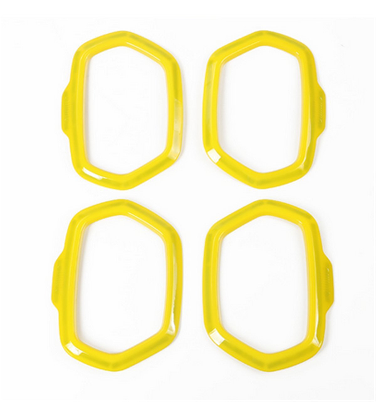 Dwindish Yellow ABS Interior Car Door Sound Speaker Audio Ring Cover Trim for Jeep Renegade 2015-2017 by Dwindish (Image #2)