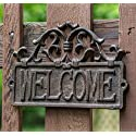 """Cast Iron Rustic Welcome Sign 