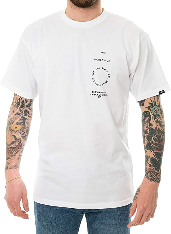 Vans - Camisa Distortion Type - VN0A49PVWHT - Blanco, S, Small ...