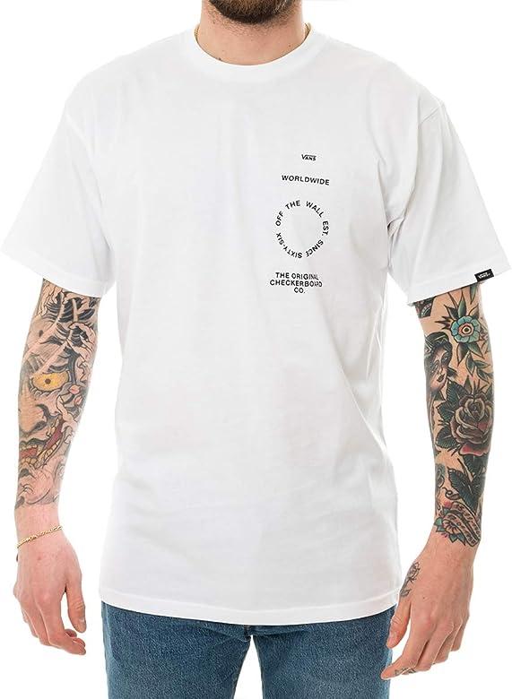 Vans VN0A49PVWHT - Camiseta para hombre blanco XS: Amazon.es: Ropa y accesorios
