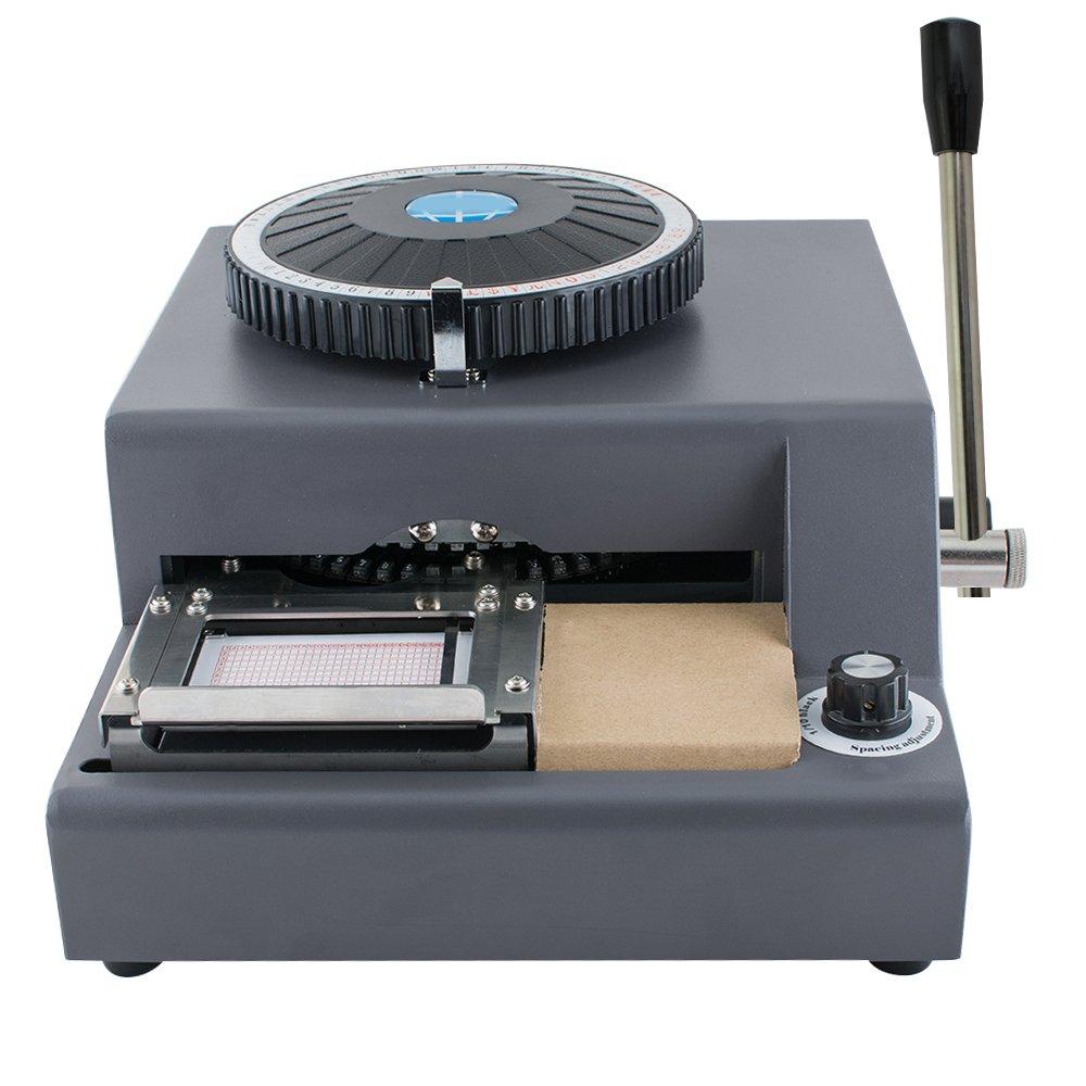 Enshey 72-Character Embossing Machine Card Embosser Printer PVC Credit Card /Gift Card Embosser Stamping Machine Credit ID VIP Magnetic Manual Embossing Machine