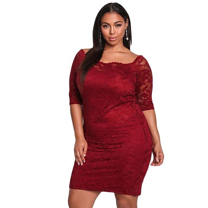 452f111b0d Vestido de Europa y América del cordón de la manga de la mujer gorda del  otoño