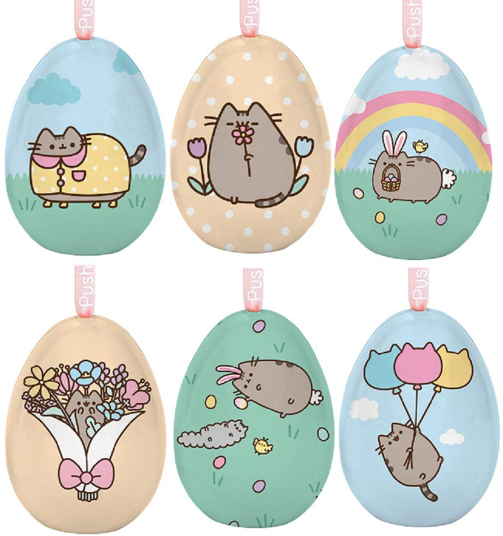 Pusheen Easter Egg Assortment 6 Different Eggs Opens to hold items