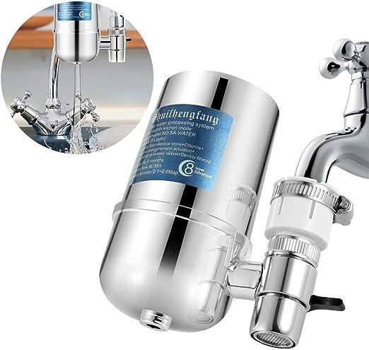 Yvsoo Purificador de Agua Filtro de Agua Sistema de purificador Agua Faucet para Cocina y Baño: Amazon.es: Hogar