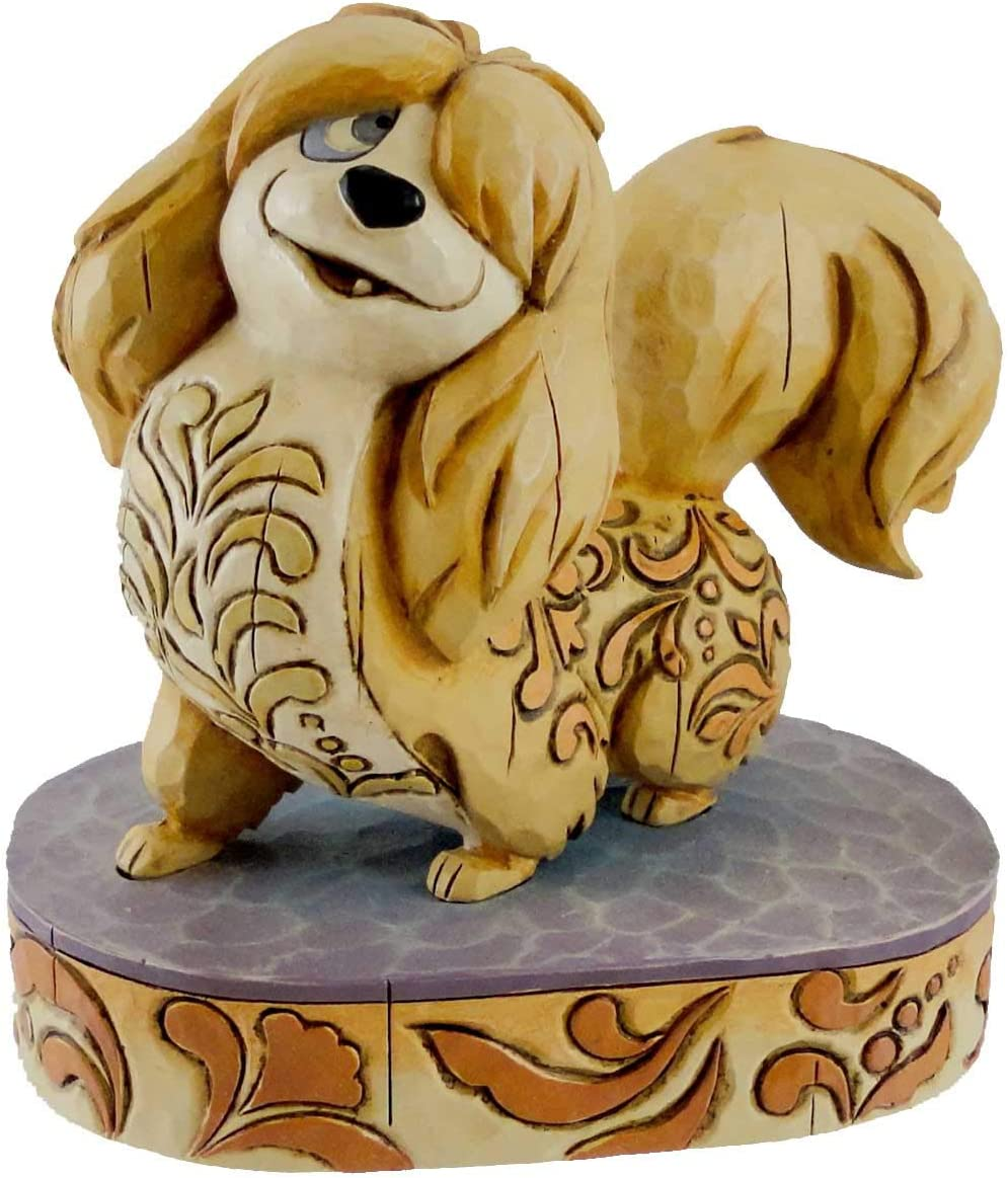 Amazon Com Disney Traditions Canine Collection Lady And The Tramp Flirtatious Peg Figurine Home Kitchen
