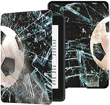 Funda para Kindle Paperwhite Balón de fútbol rápido a través de ...