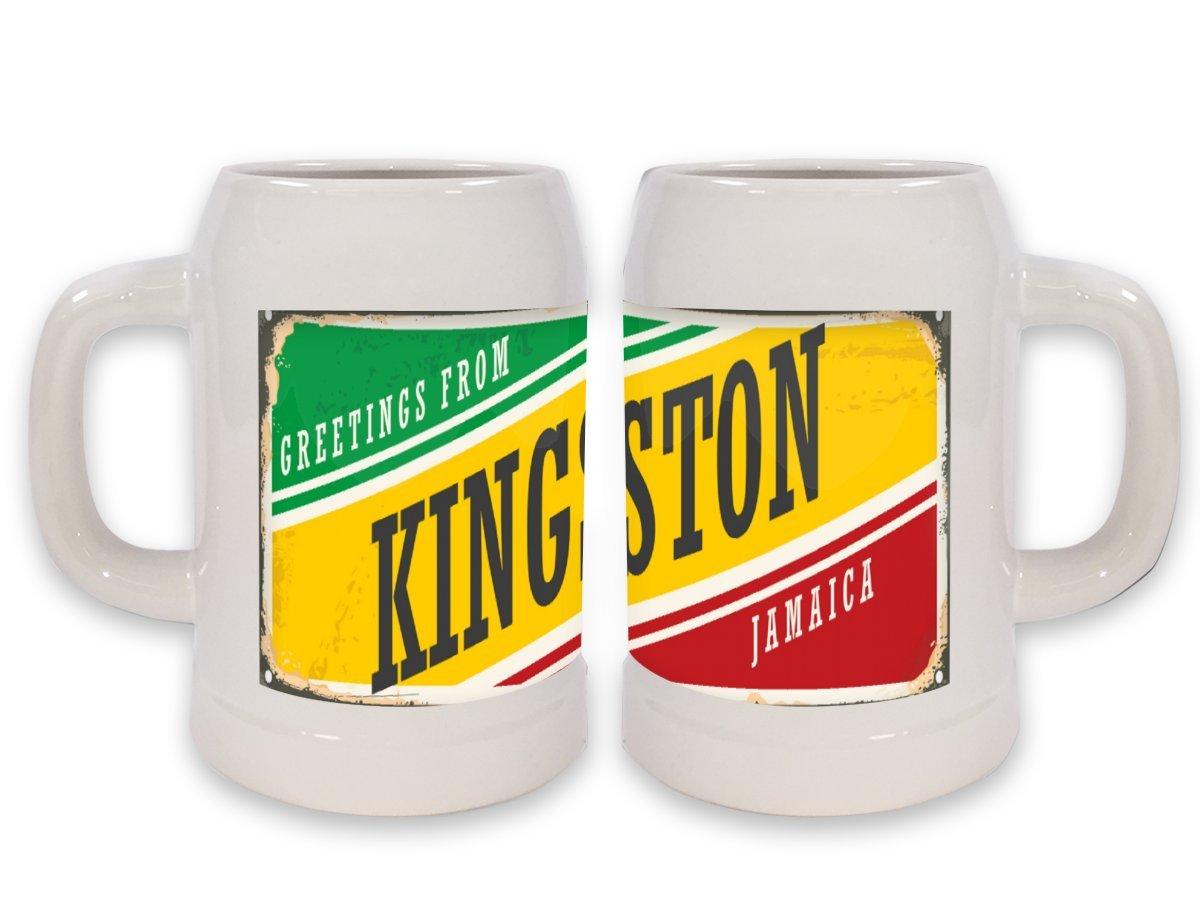 Jarra de Cerveza Retro Wall Art Metropole Kingston Jamaica impreso