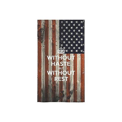Diseño de bandera de Estados Unidos Custom mano toalla absorbente (16 x 28inches) suave