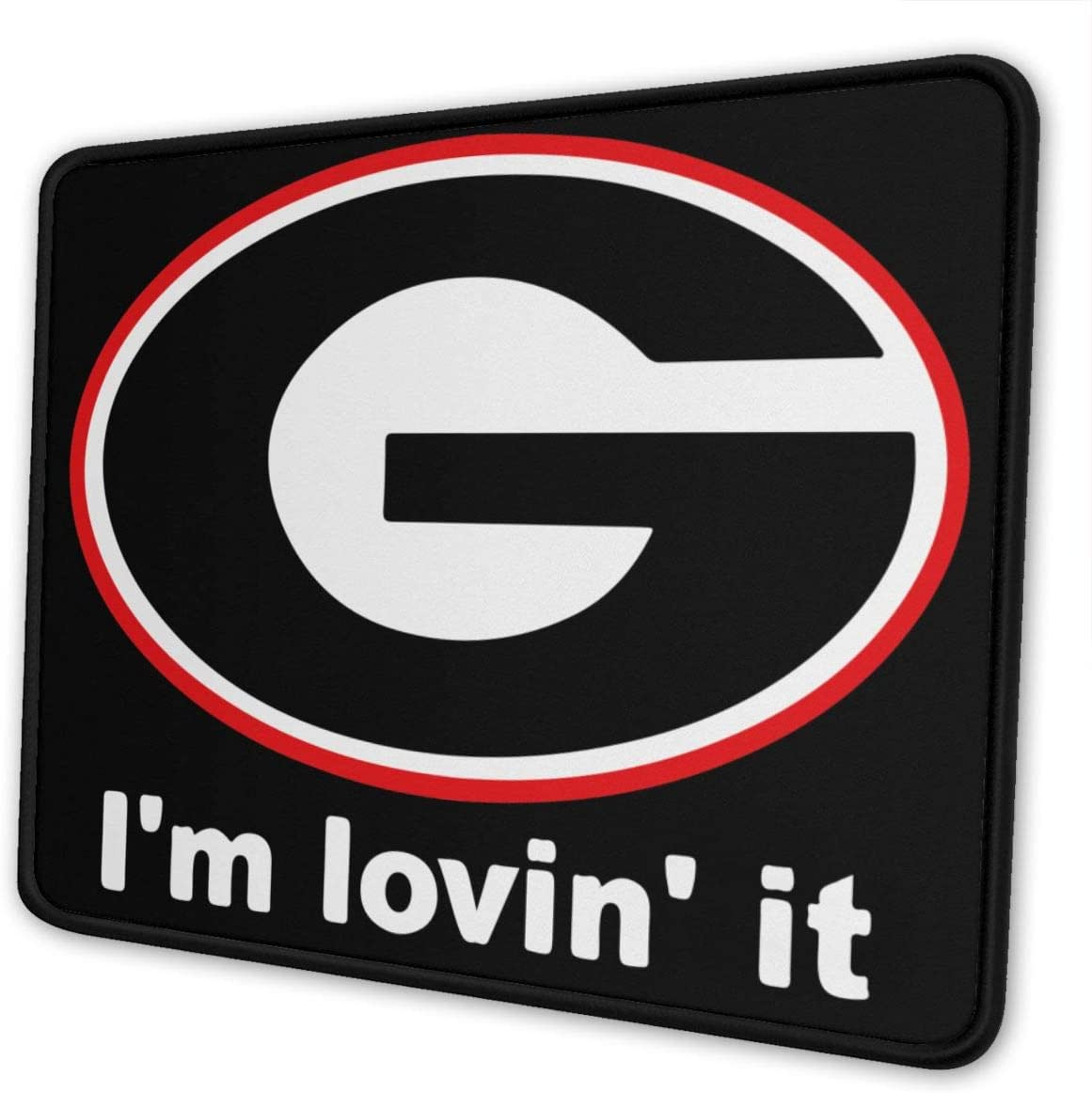 Georgia Bulldog Mouse Pad 10x12Inch with Stitched Edge Washable Mouse Pad for Office//Home for Computers Laptop