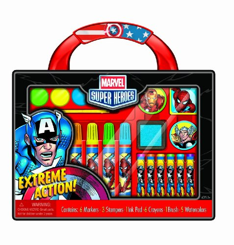 Bendon Marvel Super Heroes Take-Along Art Case Activity Set ()