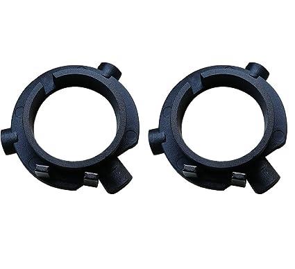 KOOMTOOM 2 Piezas H7 LED Kit Faro Base de Bombillas Adaptadores H7 Headlamp Clip Retainer Sockets Adaptador para Hyundai KIA