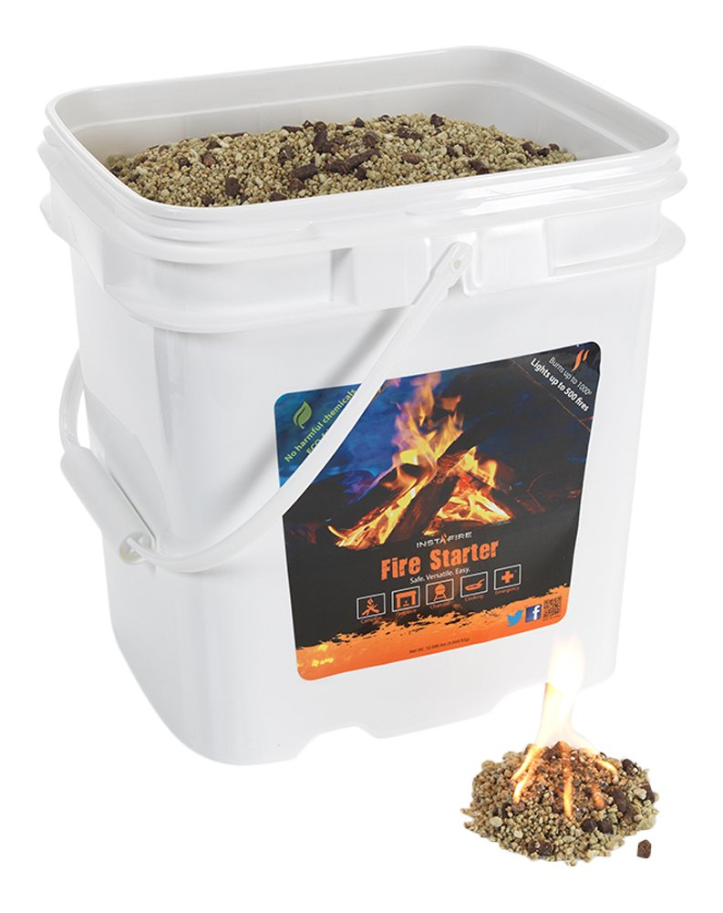 InstaFire Granulated Fire Starter, All Natural, Eco-Friendly, Lights up to 500 Total Fires in Any Weather, Awarded 2017 Fire Starter Of The Year, 4-Gallon Bucket by Instafire