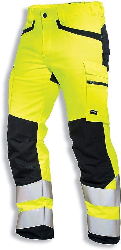 Uvex Protection Flash Pantalones De Seguridad Pantalon De Trabajo Alta Visibilidad Con Cintas Reflectantes Y Multibolsillos Amarillo Amazon Es Industria Empresas Y Ciencia