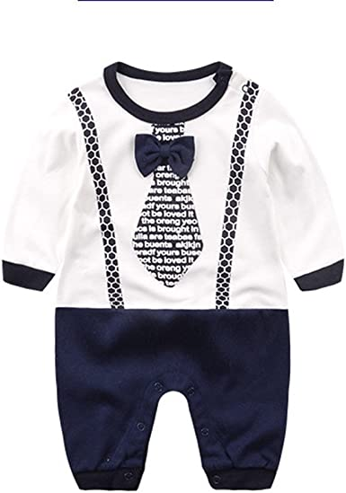 Infant Baby Boys Girls One-Pieces Love Striped Long sleeve babysuits Baby Romper